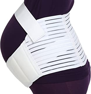 NEOtech Care Maternity Belt - Pregnancy Support - Waist/Back/Abdomen Band, Belly Brace (White, Size L)