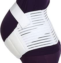 Maternity Belt - NEOtech Care Brand - Pregnancy Support - Waist/Back/Abdomen Band, Belly Brace (White, Size M)