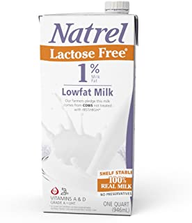 Natrel Lactose Free 1% Milk, 32 Ounce (Pack of 12)
