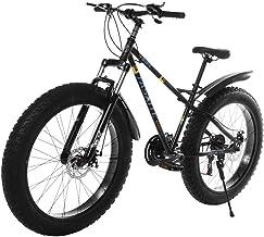 Mountain Bike Bicycle, Variable Speed Brake Bike Non-Slip Snow Bike, 26-inch Fat Tire Mountain Bike 21-Speed Bicycle High-...