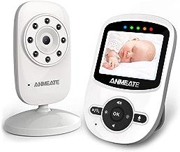 Video Baby Monitor with Digital Camera, ANMEATE Digital 2.4Ghz Wireless Video Monitor with Temperature Monitor, 960ft Transmission Range, 2-Way Talk, Night Vision, High Capacity Battery (sm24)