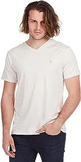 POLO RALPH LAUREN Mens Classic Fit V-Neck T-Shirt (Chalk Heat, M)