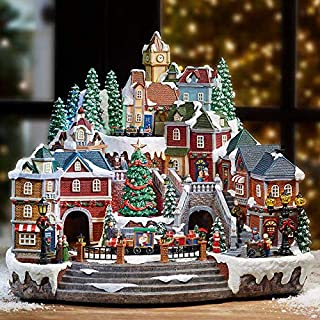 animated musical winter village