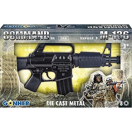 Gonher - fucili d'assalto M-136 a 8 scatti (nero) - 1366