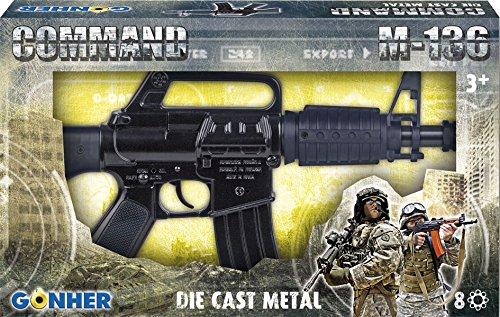 Gohner- Gonher - Rifle de Asalto M-136 de Juguete, Color Negro (136/3)