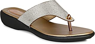 Twin Spark Comfortable Light Weight Women's Fashion Sandal with Small Stone on Strap design