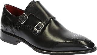 Zapatos de Cuero Negros con Doble Monje para Hombre. - Número de Modelo: 06896 14221 Forma SCA Montecarlo Nero