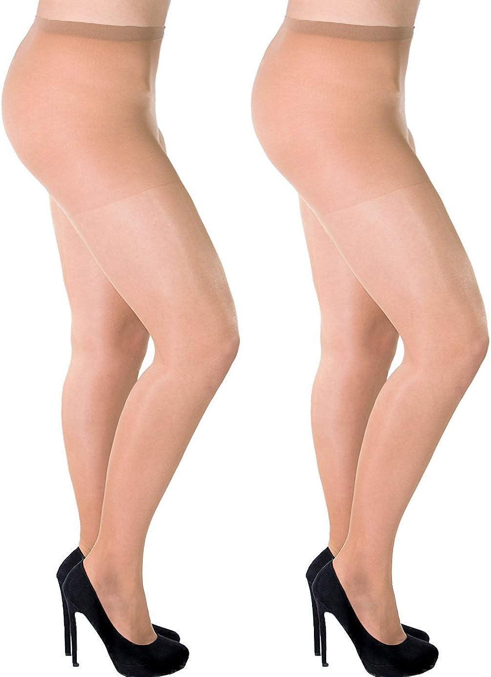 Aurellie Women Classic Sheer 20 Den Everyday Lycra Pantyhose (US size 18/20)