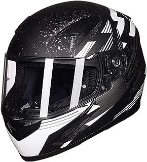 Laikeone Lightweight Full Face Motorcycle Street Bike Helmet with Internal Sun Visor, Comfortable Street Bike Motorcycle Helmets DOT/ECE Approved
