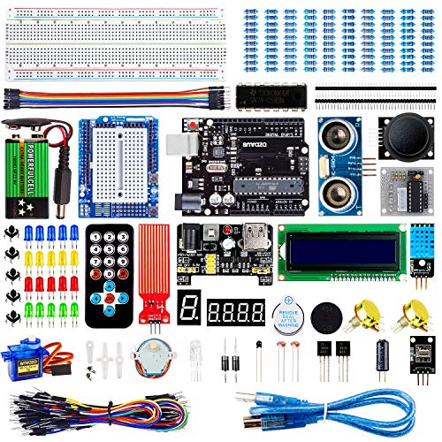 Smraza Advanced Starter Kit con Breadboard, Modulo Sensore Livello Acqua Compatibile per Arduino R3 Mega2560 Nano con Tutorial