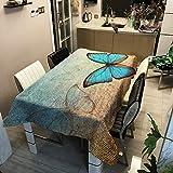 Home's Mantel AntideslizanteMantel Impermeable De Poliéster con Estampado Digital De Mariposa100x140cm