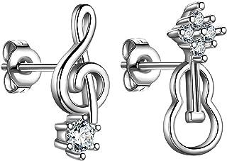 Best musical note earrings silver Reviews