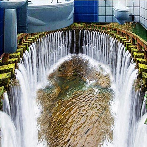 Woonn Mooie waterval water wasruimte badkamer slaapkamer woonkamer 3D vloer aangepaste grote Fresko vloersticker 250CM*158CM
