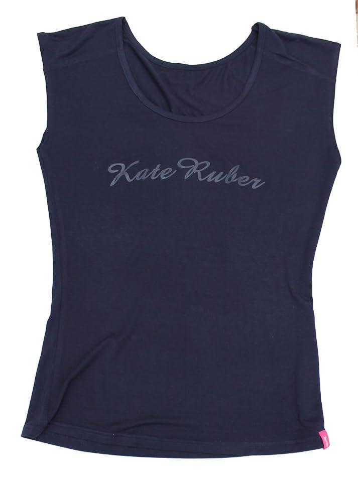 睡眠予防接種する交じるKate Ruber (ケイトルーバー) ヨガTシャツ ネイビーLL-3L