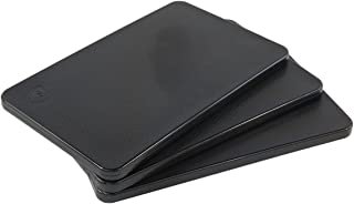 Plastic Bar Cutting Board for Restaurants, NSF and FDA Certified, 3 Pack, 10 x 6 Inch, Black