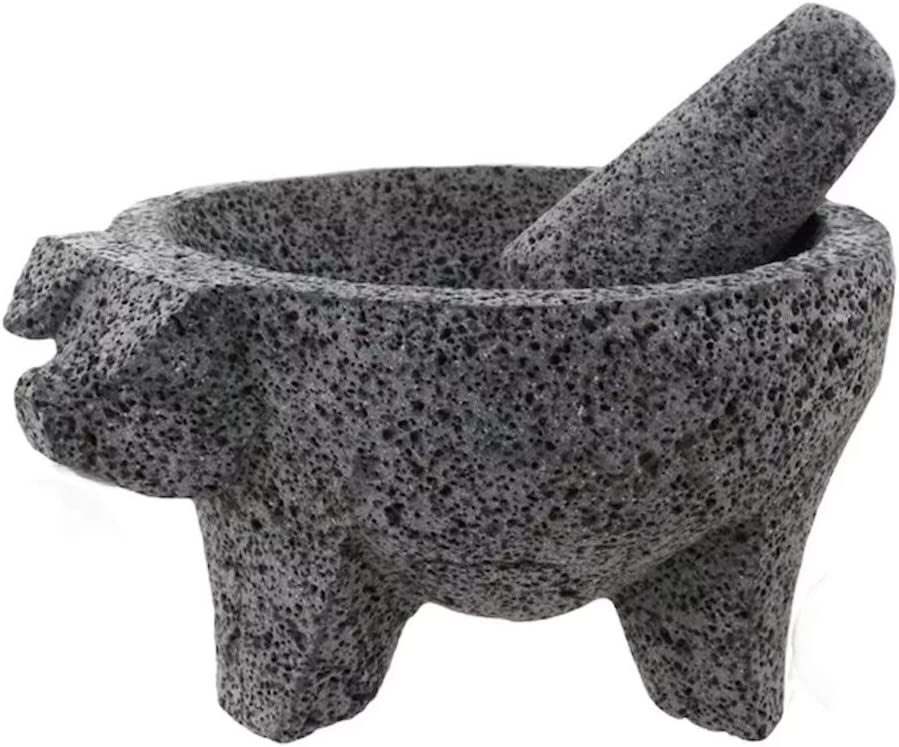 PIG Molcajete Now free shipping Arlington Mall Mortar Pestle For Salsas Spices Mexico Ha From