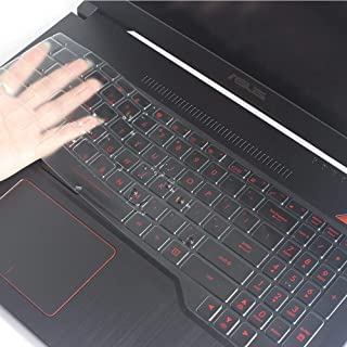 iFyx Ultra Thin Keyboard TPU Cover for Asus TUF FX504 Gaming Laptop | ASUS ROG Strix GL503 Gaming Laptop (Transparent)