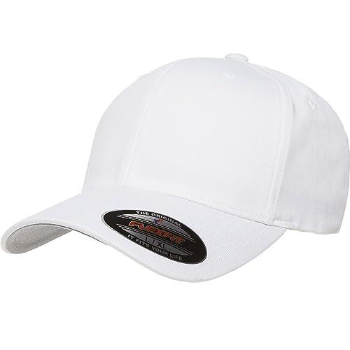 6ae18393 Blank V-Flexfit Cotton Twill Fitted Baseball Hat | Stretch Fit, Athletic  Ballcap w
