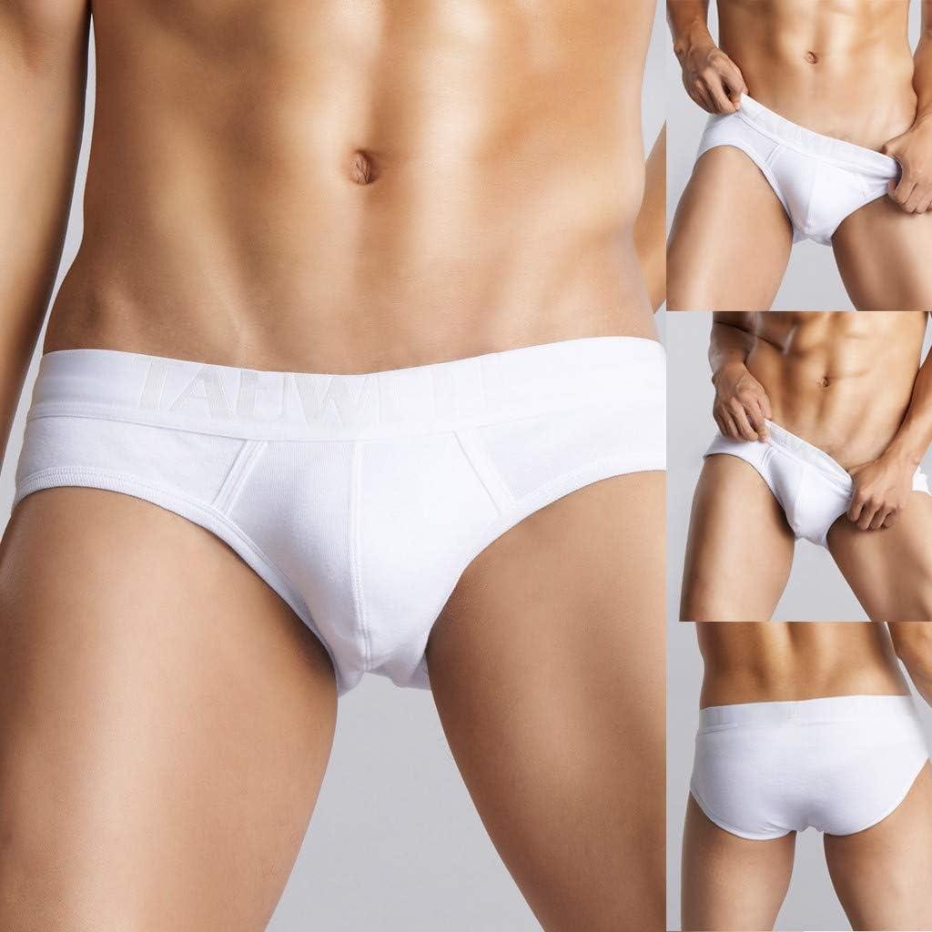 Hemlock Men Underwear Low Rise Trunks White Briefs Breathable Shorts Underwear Boxer Briefs Underpants