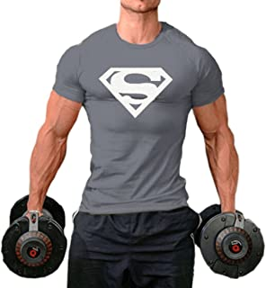 InleaderStyle Men Fittness S Logo Bodybuilding Sport Gym T-Shirts