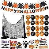 F2 Faburo Halloween Deko XXL Set Grusel Dekoration Halloween Girlande