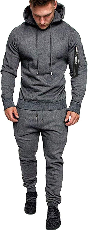 FUNEY Mens Casual Sweatsuits 2 Piece Hoodie Tracksuit Sets Camouflage Sweatshirt Jogger Sweatpants Jogging Suits Tracksuit