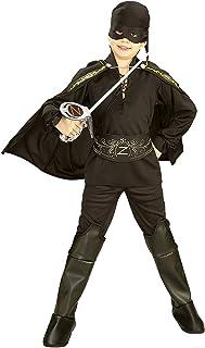Disfraz de El Zorro para niño, caja con disfraz y accesorios, talla 3-4 años (Rubie's 41043-S)