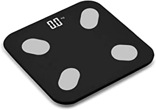 Báscula de peso corporal para teléfono móvil Bluetooth inteligente de grasa corporal báscula electrónica de pesaje buena nueva negra
