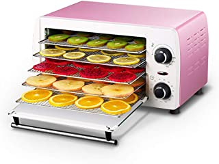 Food Dryer, Fruit Dryer Machine Automatic Dehydrator Timer 48~78°C Temperature Setting 5 Removable Trays Dehydrator Machin...