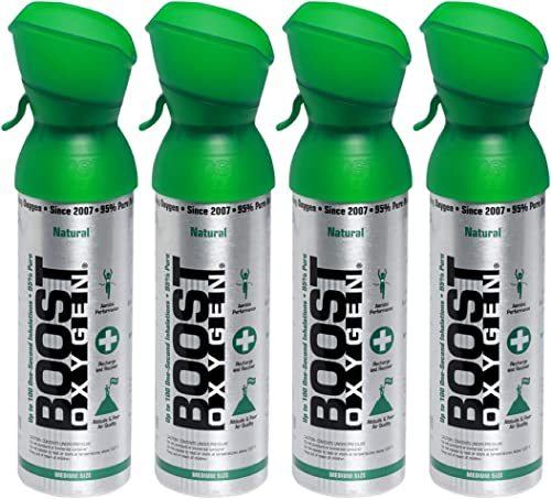 new arrival Boost Oxygen Supplemental Oxygen to Go   All-Natural Respiratory online Support for lowest Health, Wellness, Performance, Recovery and Altitude (5 Liter Canister, 4 Pack, Natural) outlet online sale