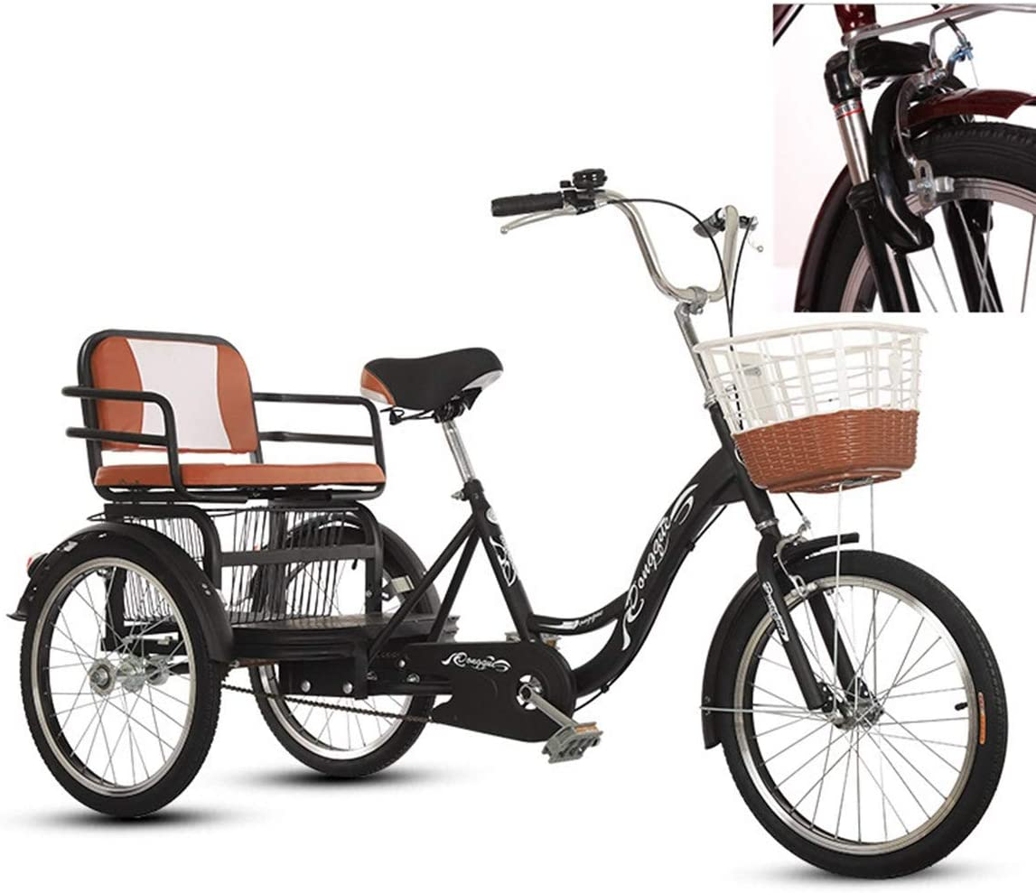 ZFF 3 Wheel New arrival Max 46% OFF Bikes Adult Tricycles Baskets 20 with and Back Seat
