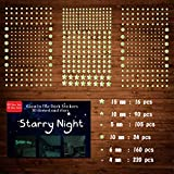 Glow in The Dark Stars for Ceiling, 633 Pcs 3D Glowing Wall Decor Stickers Starry Sky Shining Decoration Perfect for Kids Bedroom Bedding Room Gifts