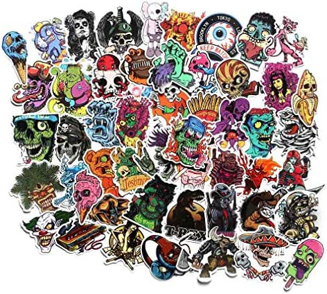 Horror Stickers Pack 100pcs Vinyl Punk Terror Stickers Horror Theme Stickers for Water Bottle product image