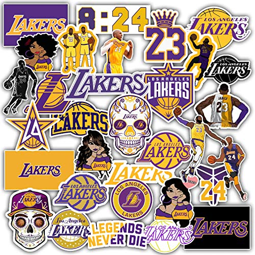 Stickers Pack Los Angeles Vinyl Lakers Aesthetic Stickers Pack of 33 pcs