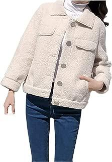 [ネコート] ショート丈 ジャケット コート 襟付き ボタン フォーマル 通勤 OL 冬 レディース M〜2XL