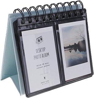 Álbum de fotos Kompassswc para escritorio calendario álbum de fotos de 68 fotos para Polaroid Instax Mini 70 7s 8 50s fotos de 903 pulgadas
