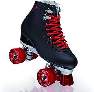 FHJKS Roller Skates for Women and Men Adjustable PU Leather High-top Roller Skates Four-Wheel Roller Skates Outdoor and In...