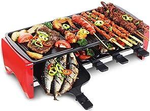 LINLIN BBQ Desktop Grill Multifunción Interior Sin Humo Antiadherente Temperatura Ajustable Fácil de Limpiar Superficie de cocción y termostato Bandeja de Goteo Plancha de Mesa
