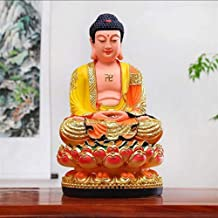 PPCP The Pioneer of Wisdom and Wealth of Sakyamuni Buddha Statue Used As Feng Shui, Home Decoration Display, 16×30cm