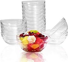 SZUAH Mini 4 Inch Glass Bowls Prep Bowls, 6.5 Ounce 195ml Serving Bowls Glass Clear Salad Bowl for Kitchen Prep, Dessert, ...