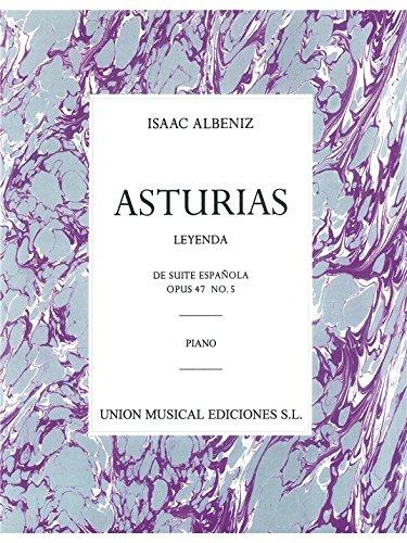 Albeniz: Asturias (leyenda) De Suite Espanola Op.47 No.5. Für Klavier