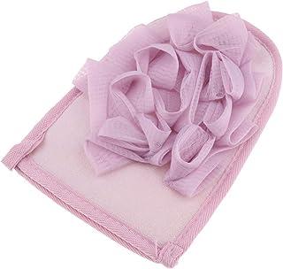 D DOLITY Exfoliating Gloves-Body Scrub with Bath Ball- Shower Bath Spa Exfoliation Mitten for Men and Women - Soft Skin Care - Purple