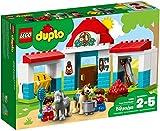 LEGO DUPLO Town - Establo de los Ponis, Juguete de Preescolar Educativo con Caballos y Muñecos para Niñas y Niños de 2 a 5 Años (10868)