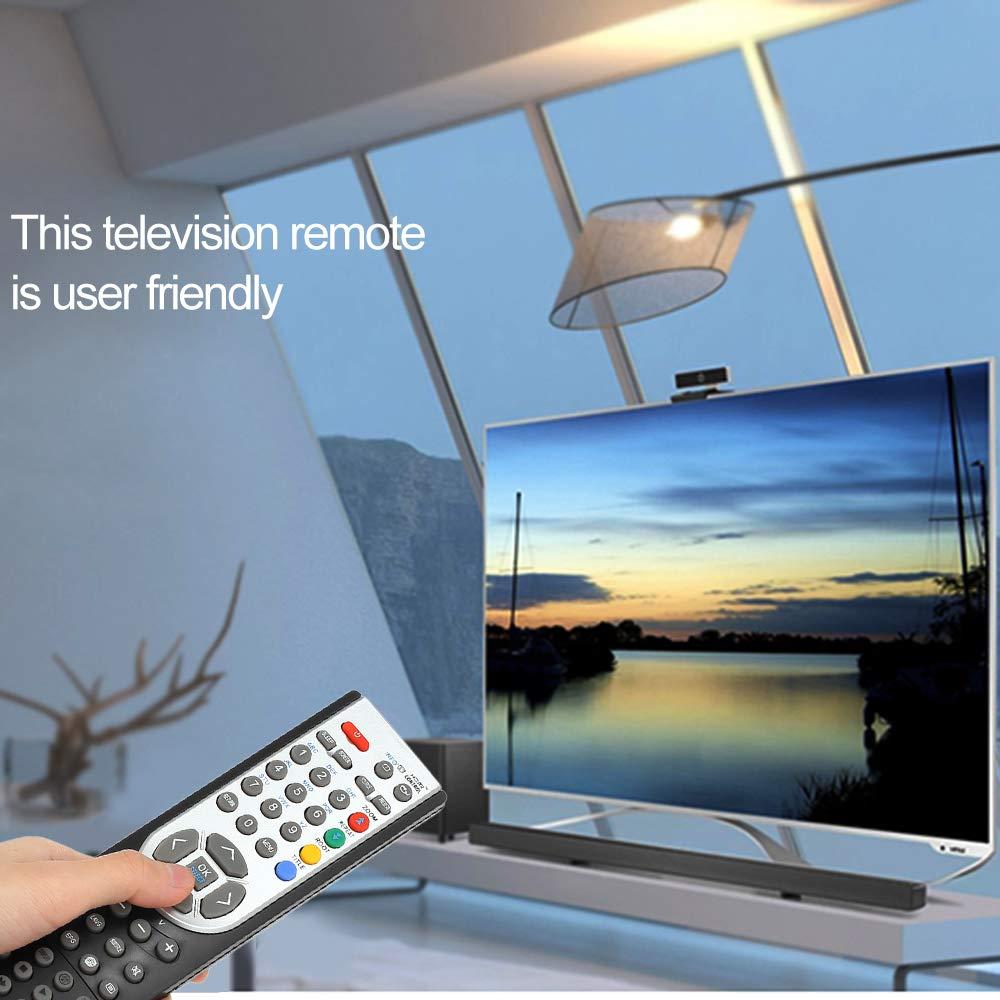 Festnight RC1900 Control Remoto para Oki HITACHI Alba CELCUS Luxor GRUNDIG Sharp JMB TELEFUNKEN Bush TECHWOOD Akai NEVIR SANYO LCD LED Plasma Smart TV Negro: Amazon.es: Electrónica