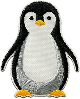 Recycl Patch Pingüino Animal Antártida Think Green - Parches termoadhesivos bordados aplique para ropa, tamaño: 5 x 4 cm
