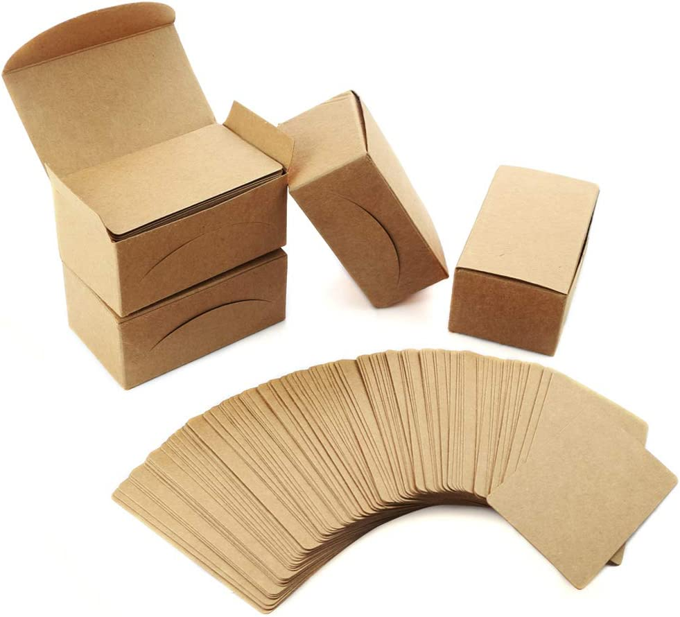 Weoxpr 400pcs trust Blank Kraft Note W Paper Business Vocabulary Cards 2021