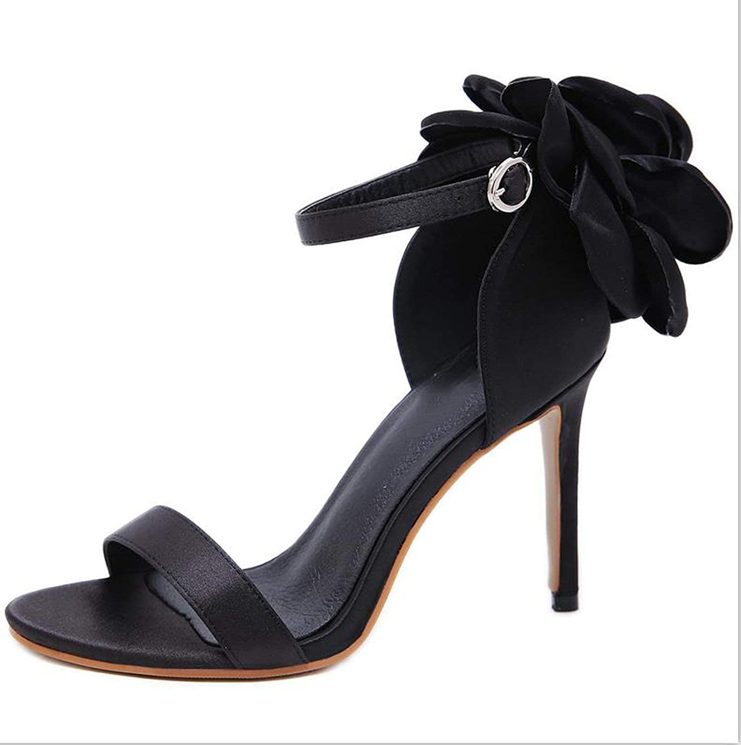 Our ideas Summer Big Butterfly-Knot Women Sandals Stiletto High Heel shoes Ankle Strap OL Sexy Pump Party Wedding shoes Size 35-40