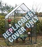 Parkland® - Cubierta de repuesto para invernadero (PVC, 143 x 73 x 195 cm), transparente