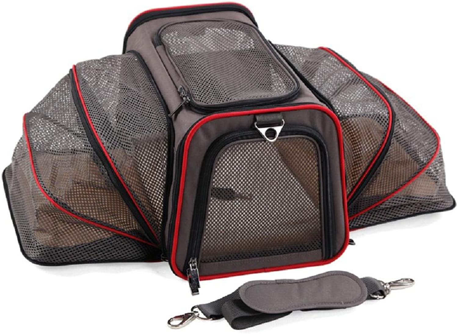 Expandable Dog Cat Travel Pet Carrier , Designed for Cats, Dogs, Kittens, Puppies  Extra Spacious, Comfortable, Soft Sided Travel Carrier