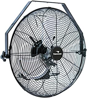 Tornado - 18 Inch High Velocity Industrial Wall Fan with TEAO Enclosure Motor - 4000 CFM - 3 Speed - 6.5 FT Cord - Industrial, Commercial, Residential Use - UL Safety Listed